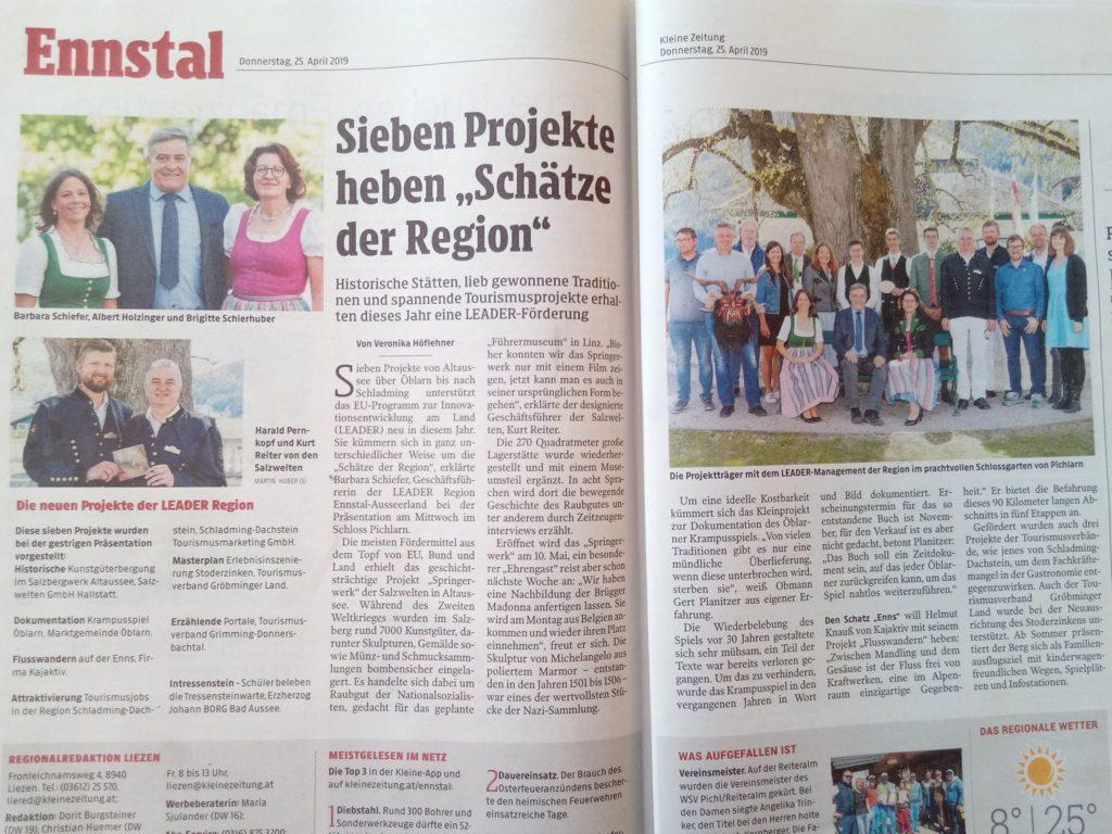 Kleinezeitung - Leader Ennstal Ausseerland
